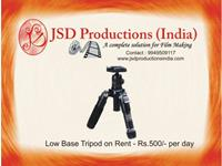 Low Base Tripod on Rent in Hyderabad - Equipment for Rental/ Hire Hyderabad on rent in Hyderabad, India
