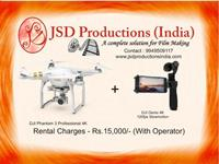 DJI Phantom 3 4K and DJI Osmo 4K on Rent - Helicam/Flycam on Rent - Camera Rentals Hyderabad on rent in Hyderabad, India