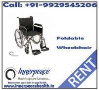 Foldable Wheelchair On Rent - Innerpeace on rent in Indore, India