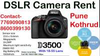 DSRL Camera Rent Pune Nikon D3500 on rent in Pune, India