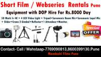 Short Film Equipment dop pune album song dop shoot on rent in Pune, India